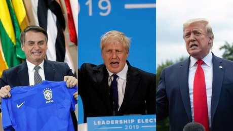 Enquanto Bolsonaro é chamado de 'Trump dos Trópicos', Boris Johnson já está sendo apelidado de 'Trump britânico'. Mas será que as similaridades com Trump podem aproximar os líderes britânico e brasileiro?