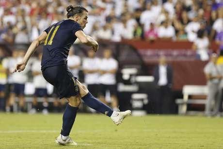 Gareth Bale em campo pelo Real Madrid contra o Arsenal pela International Champions Cup