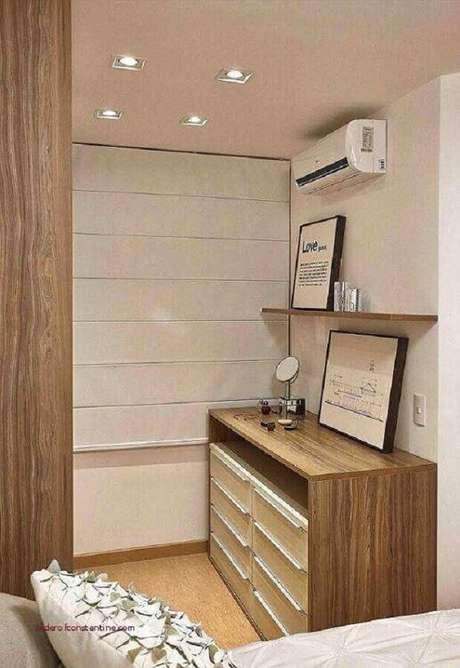 23. Modelo simples de cômoda de madeira – Foto: PR Arquitetura