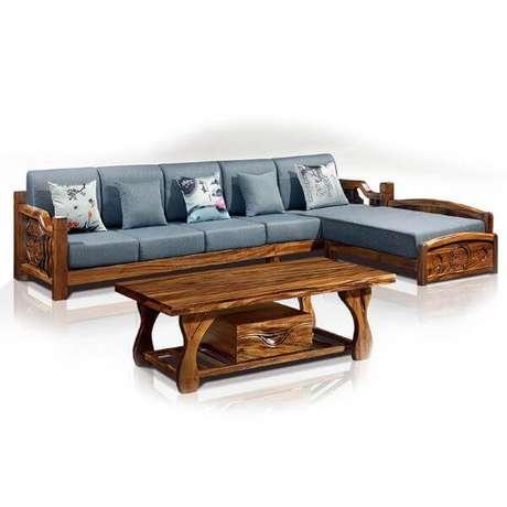 Sofá de Madeira: +73 Modelos para Usar na Varanda e Sala ...