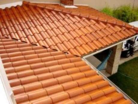 18. A telha portuguesa pode ser aplicada em diferentes estruturas. Foto: Madeireira Gonçalvez