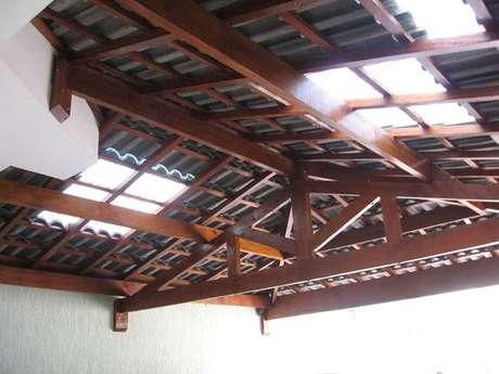 30.O telhado detelha portuguesa visto debaixo também é interessante. Foto: Telhas Rio Azul