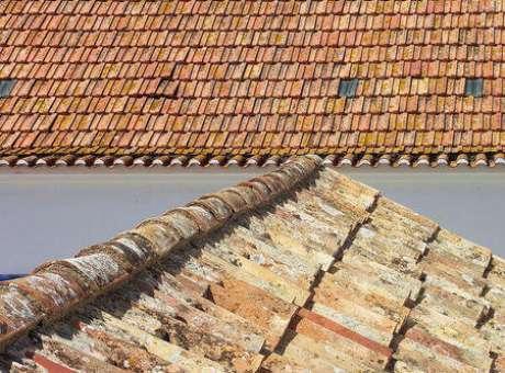 35. O telhado de telha portuguesa pode acabar encardido se não passar por manutenções. Foto: Wikipedia