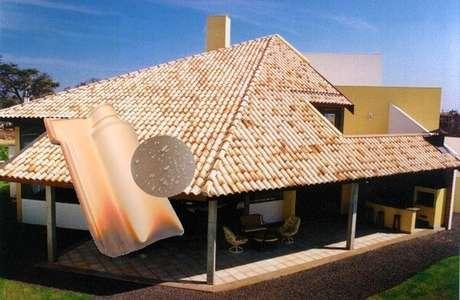 5. As cores da telha portuguesa mesclada possuem um efeito divertido. Foto: Mercado Livre