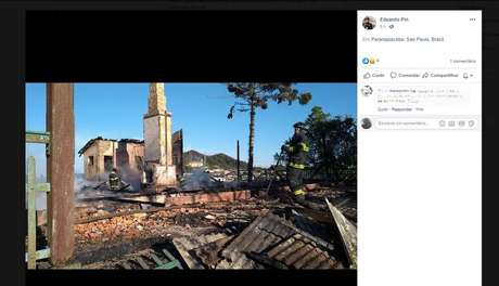Incêndio atinge residência na Vila de Paranapiacaba