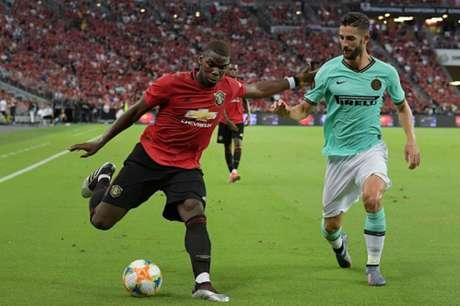 Pogba em campo pelo United (Foto: AFP)