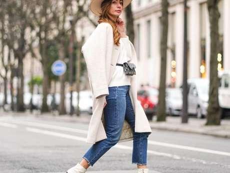 Calças da moda: o modelo de calça jeans reta mais curto também é tendência
