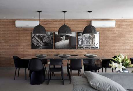 27. Mesa retangular ampla para sala de jantar. Fonte: Pinterest