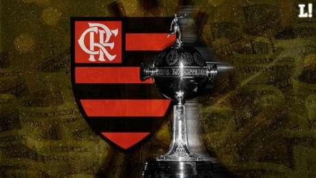 Flamengo: de olho no título e na considerável grana até a decisão (Arte: Marcelo Moraes/Lance!)