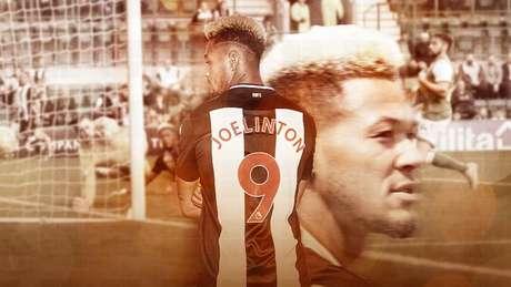 A VEZ DE JOELINTON: Brasileiro busca deixar sua marca nos gramados ingleses (Arte: Marina Cardoso/Lance!)