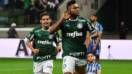 Borja fez seu 11º gol pelo Palmeiras em Libertadores (Foto: Nelson ALMEIDA / AFP)