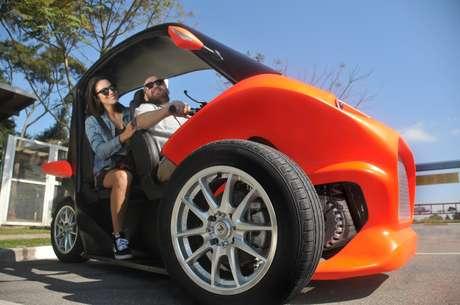 Gaia Zero é o primeiro triciclo elétrico urbano do Brasil fabricado por uma startup brasileira