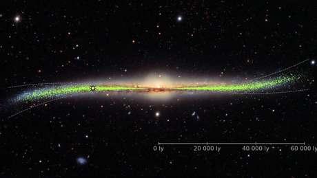 Uma nova visão da Via Láctea: torta nas bordas