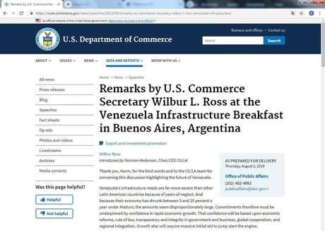 Secretário de Comércio dos EUA, Wilbur Ross, participou do Fórum de Liderança em Infraestrutura da América Latina, em Brasília