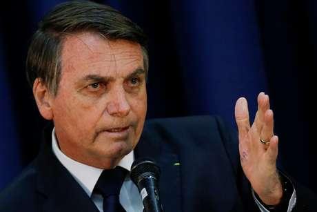 Presidente Jair Bolsonaro discursa durante cerimônia em Brasília 11/07/2019 REUTERS/Adriano Machado