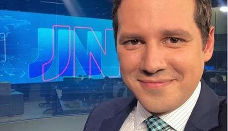De Nuccio no estúdio do JN, no Rio: a passagem pela Globo durou apenas dois anos