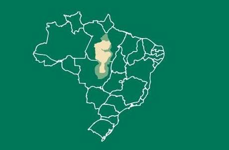 Bacia do Xingu, no Pará e Mato Grosso (trecho em amarelo corresponde às áreas protegidas)