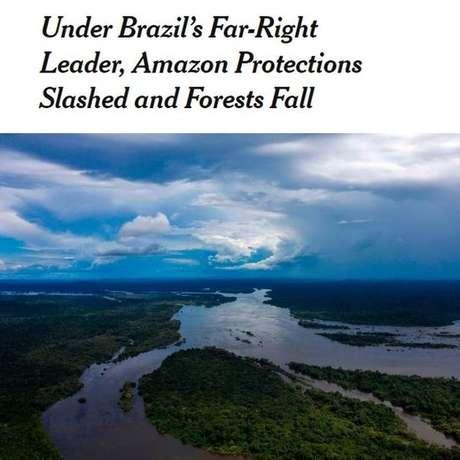 The New York Times aponta que desmatamento na Amazônia acelerou durante governo Bolsonaro