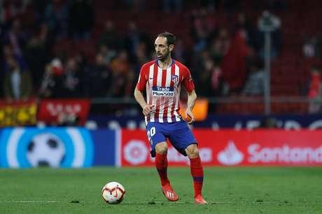 Juanfran na vitória do Atlético de Madrid sobre o Girona por 2 a 0