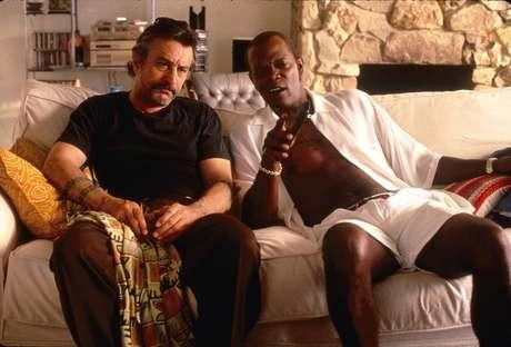 De Niro e Samuel L. Jackson em 'Jackie Brown',policialde1997, deQuentin Tarantino