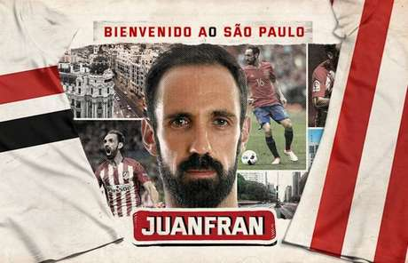 São Paulo anuncia contratação do lateral Juanfran, ex-Atlético de Madrid.