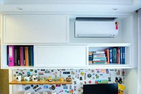 7. O ar condicionado split cabe em qualquer cômodo. Projeto de Studio Bene Arquitetura