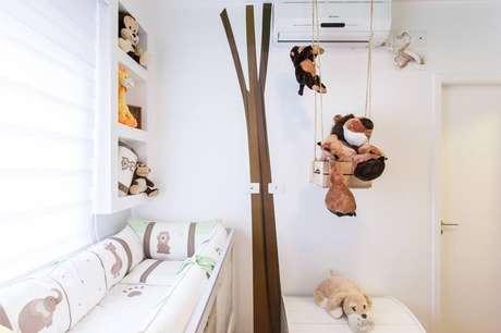 26. Em quartos infantis, o ar condicionado split é mais do que necessários para o bem-estar da criança. Projeto de Fabriana Marques Aloia