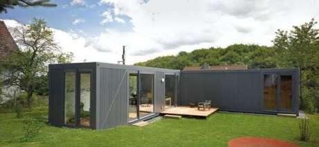 14. Casa container cinza