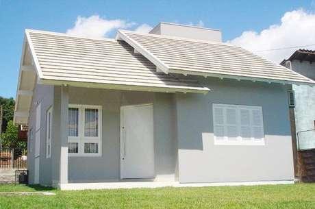 26. Casas pequenas também são lindas para apostar na casa cor cinza