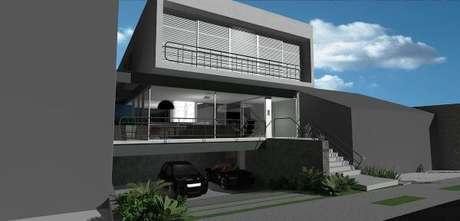 39. As fachadas de casa cinza em diferentes tons são lindas! – Por: Grupo Arquitetura
