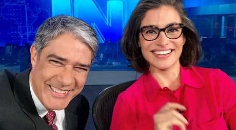 Rindo à toa: na segunda-feira (5), William Bonner e Renata Vasconcellos, do JN, foram vistos por 7,4 milhões de telespectadores somente na Grande São Paulo