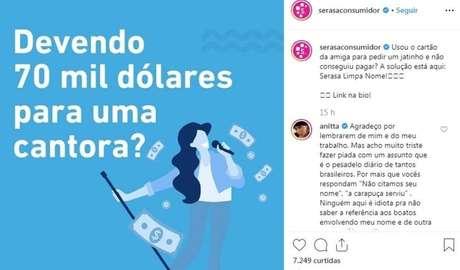 Perfil da Serasa Consumidor, no Instagram, brinca com notícias para chamar atenção sobre dívidas.