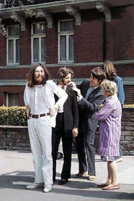 Bastidores da famosa capa de Abbey Road.