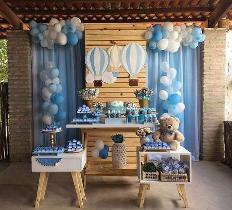 10. Decoração simples para chá de fralda menino – Foto: Sua Festa