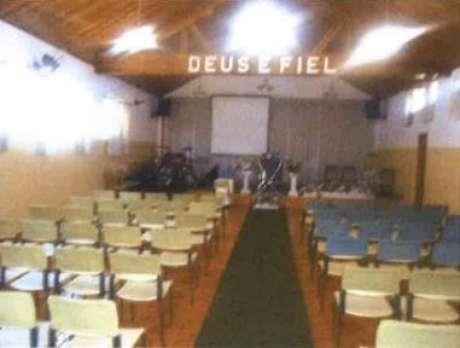 Sala ecumênica, onde são realizados cultos na unidade