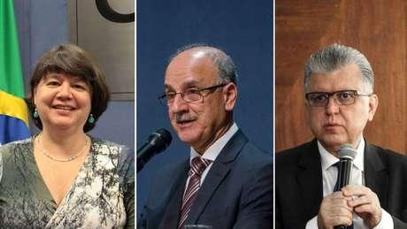 Os escolhidos para a lista da ANPR, da esquerda para a dir.: Luiza Frischeisen, Blal Dalloul e Mário Bonsaglia