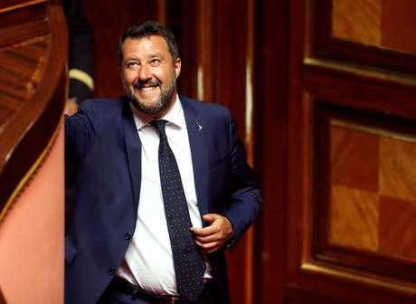 Vice-primeiro-ministro da Itália, Matteo Salvini, em Roma 05/08/2019 REUTERS/ Remo Casilli