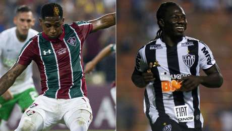 Adversários, os colombianos Yony e Chará eram companheiros em 2018, no Junior Barranquilla (COL) (Lancepress!)