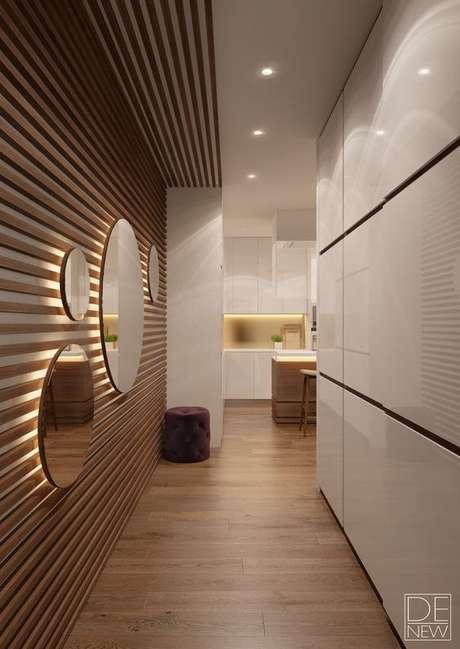 11. Com uma boa instalação elétrica, você pode ousar e criar painéis luminosos. Foto: Behance