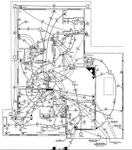12. Quanto maior a casa, mais complexa é a instalação elétrica. Foto: Ensinando Elétrica