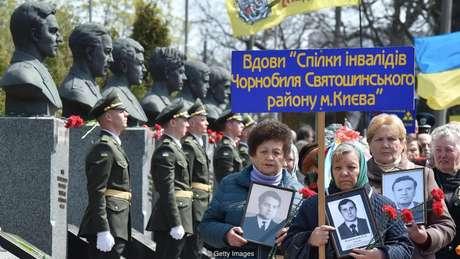 A Ucrânia paga pensões a 36.525 viúvas de vítimas do acidente de Chernobyl
