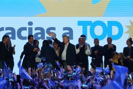 Candidato de oposição Alberto Fernández comemora vitória em primárias da Argentina 11/08/2019 REUTERS/Agustin Marcarian