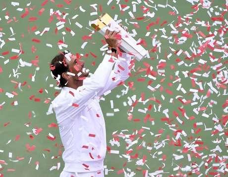 Rafael Nadal comemora título do Masters do Canadá 11/08/2019 Eric Bolte-USA TODAY Sports