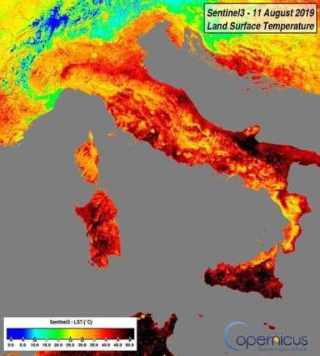 Temperatura no solo de cidades da Itália chega a 50ºC
