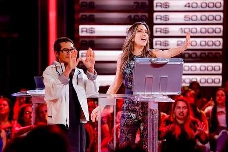 Patricia Abravanel na apresentação do 'Topa ou Não Topa', do SBT.