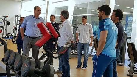 Rogério Ceni em seu primeiro dia de trabalho no Cruzeiro