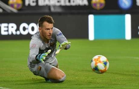 Neto durante amistoso do Barcelona contra o Napoli em Miami 07/08/2019 Jasen Vinlove-USA TODAY Sports