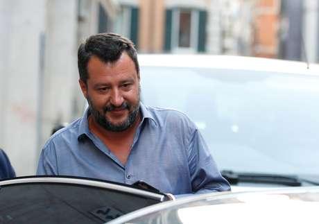 Matteo Salvini após reunião em Roma 12/08/2019 REUTERS/Remo Casilli