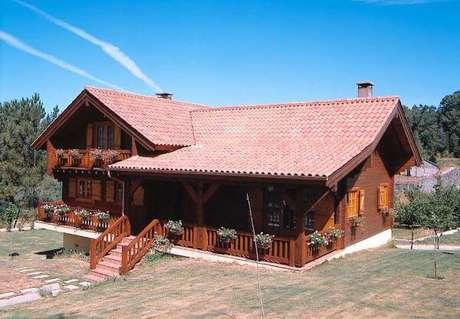 18. Use a telha colonial para ter telhados coloniais lindos na sua casa – Por: Revista VD