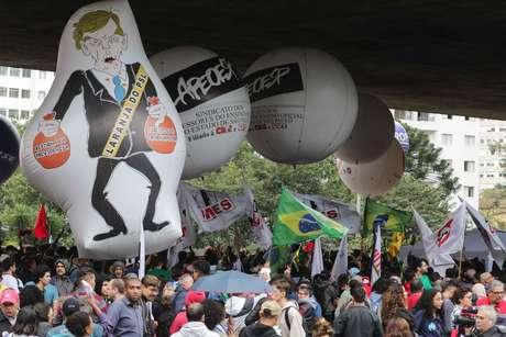 Estudantes protestaram em todo o Brasil contra os cortes orçamentários do goveno Bolsonaro